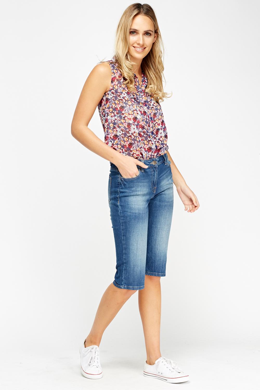 3/4 Denim Shorts - Just £5
