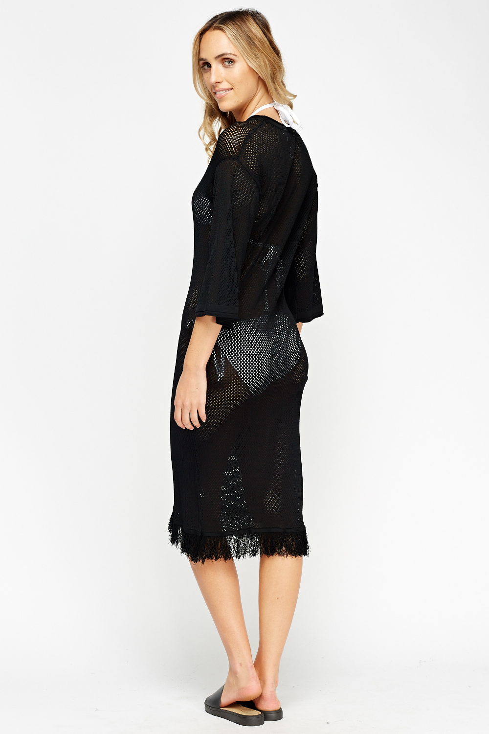 Mesh Beach Long Cover Up Just 163 5