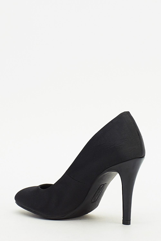 f2e8e176386 Black Contrast Pump Heels - Just £2