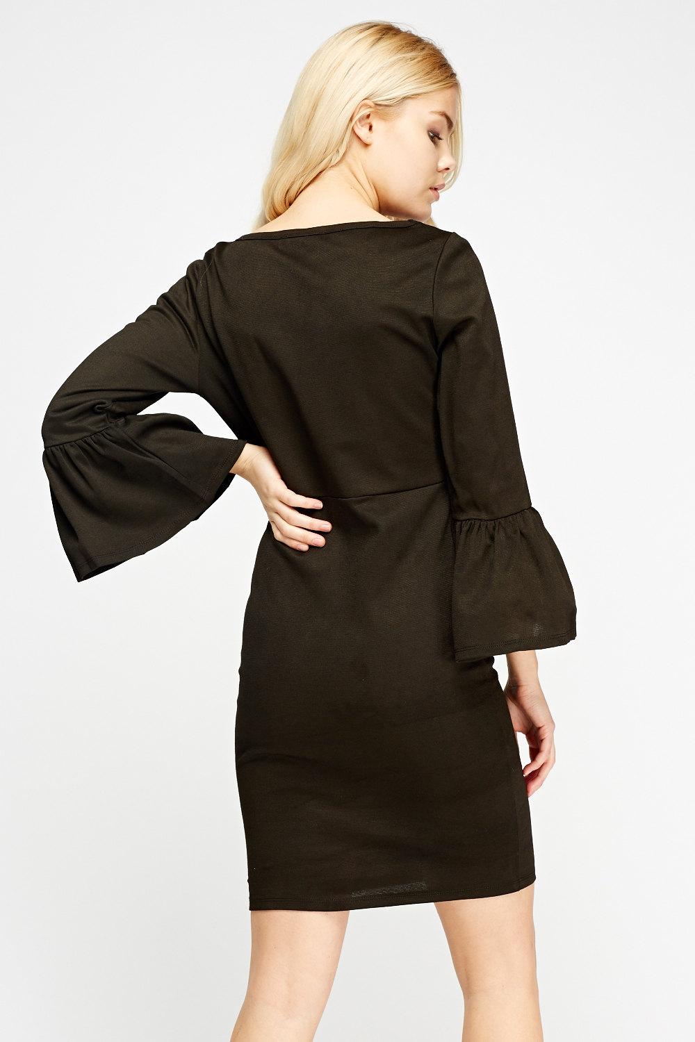 35f72c56f872 Flared Sleeve Coffee Dress - Just £5