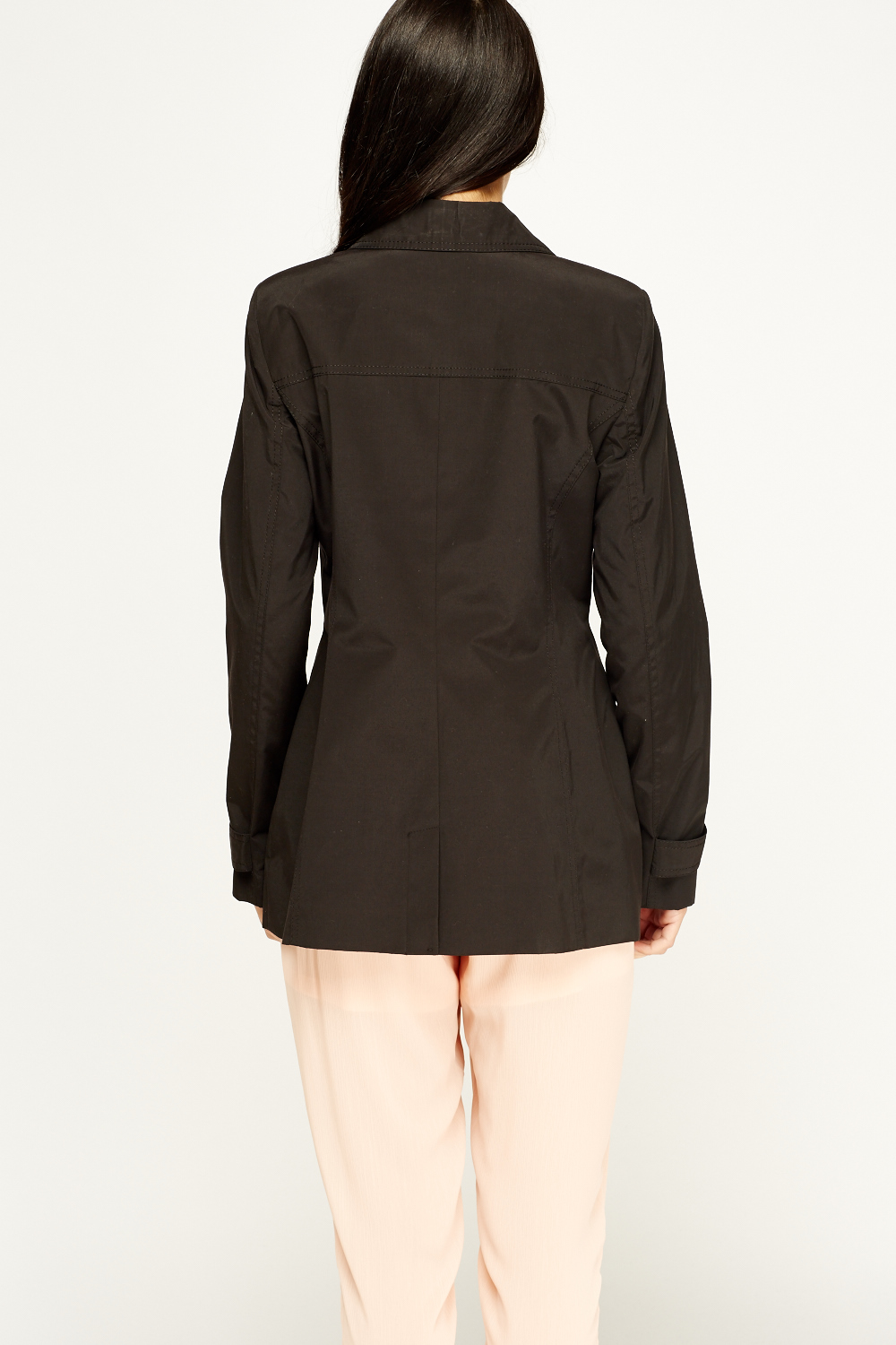 Turn to a belted black jacket to finish off a fashionable appearance. Go with a women's black pea coat for a preppy, fitted look. Stay cozy in any situation with a women's wool coat in black. Uncovering on-trend women's coats is easy. Stay trendy and professional in a women's belted coat from Steve Madden.
