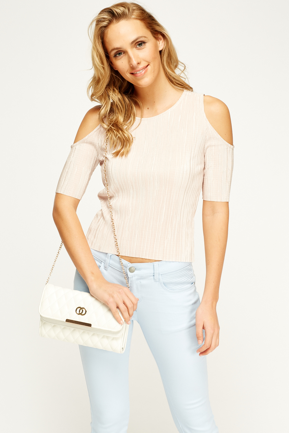 923a1b01f9af2f Pleated Cold Shoulder Top - Just £5