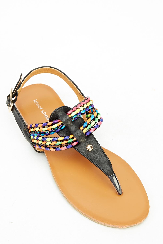 Multi Coloured Flip Flop Sandals - Just 5-2650