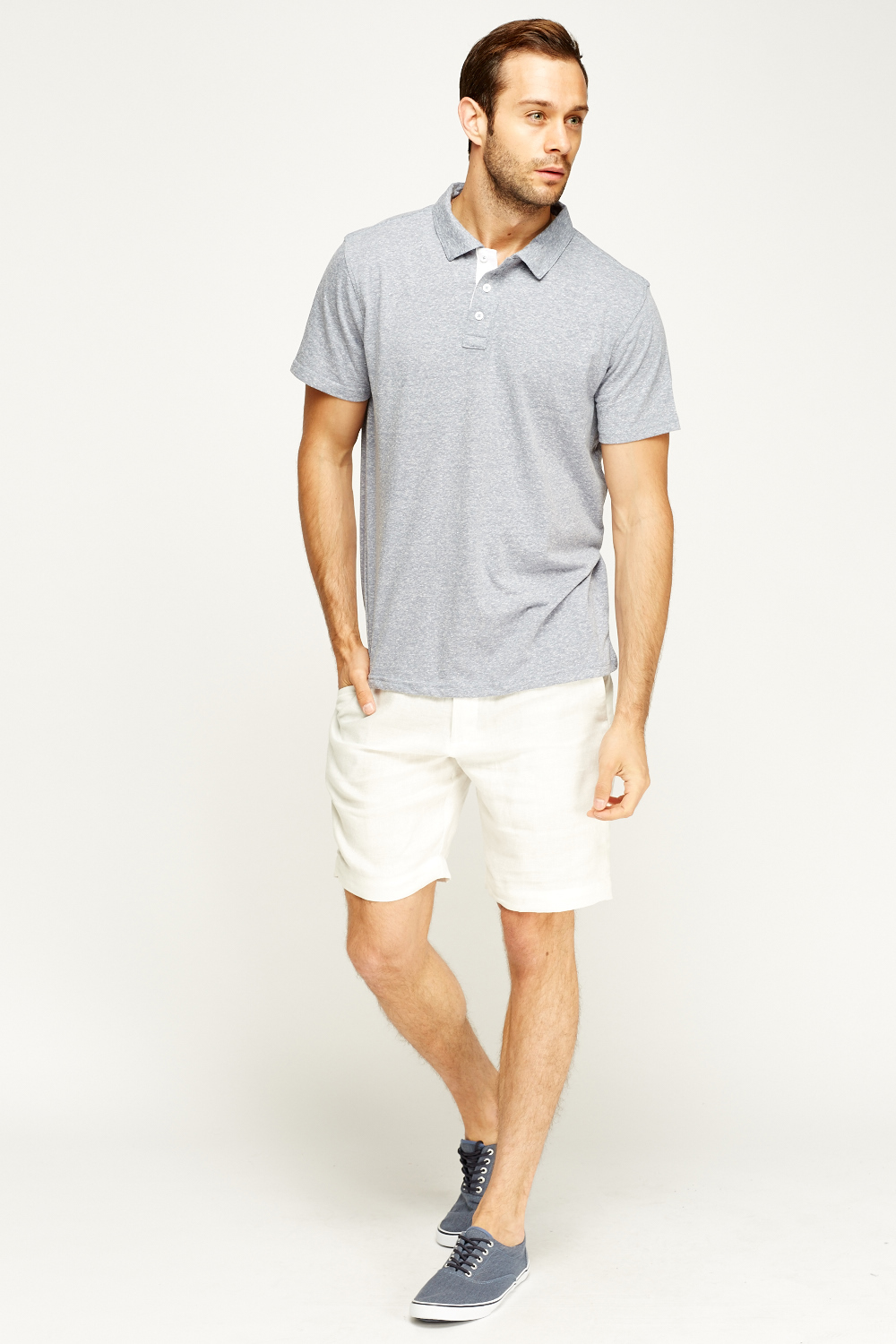White Casual Linen Shorts - Just £5