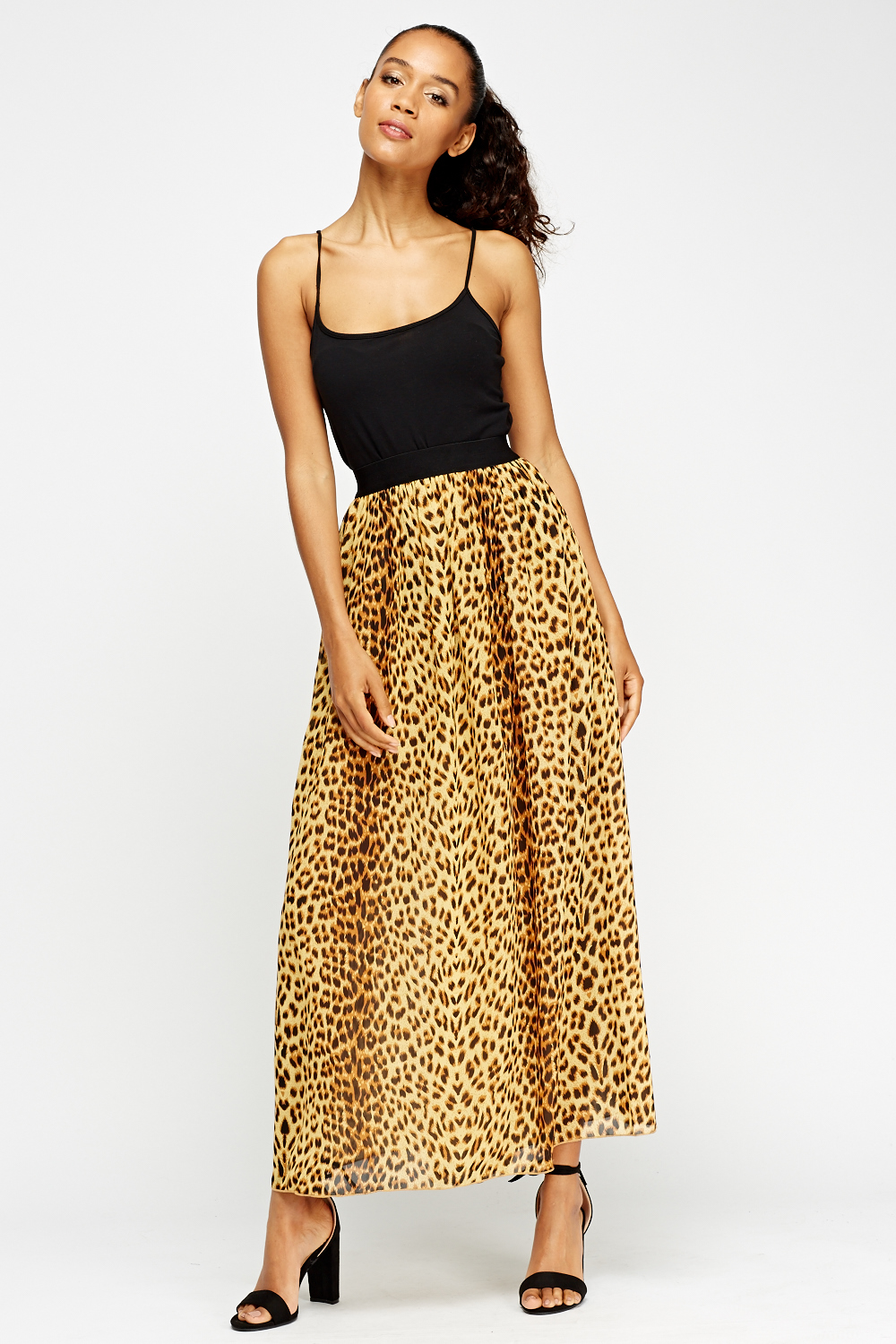 Leopard Print Maxi Skirt Just 163 5