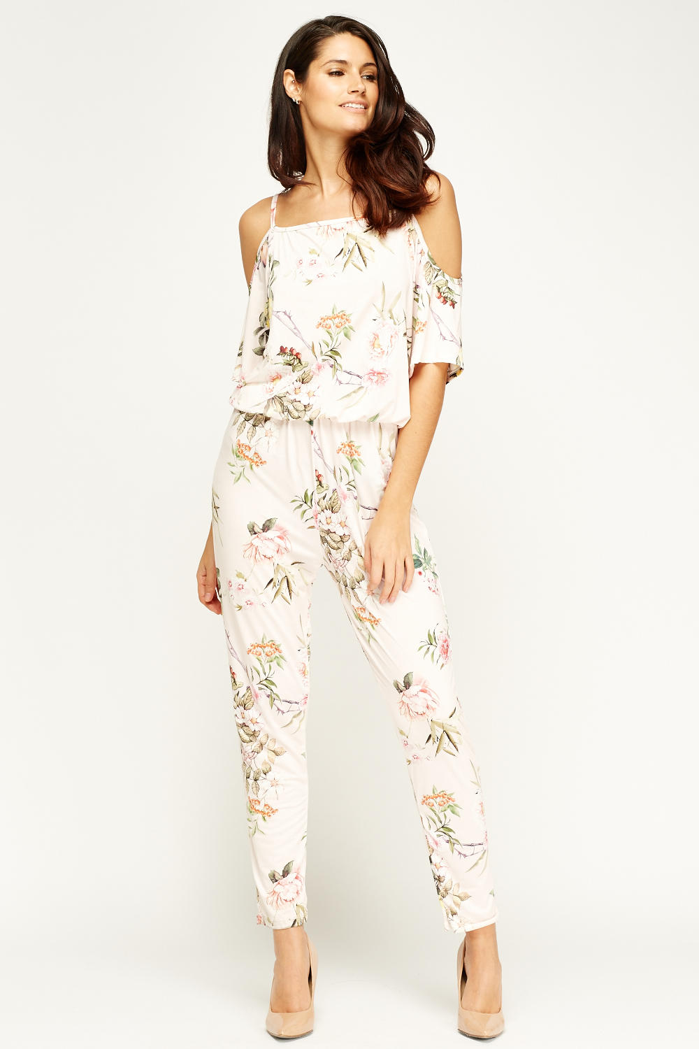 200372c3678 Kimi And Co Light Pink Floral Jumpsuit - Limited edition