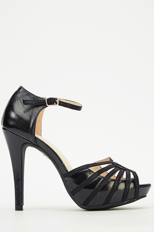 acc03b25dc15 Ankle Strap Peep Toe Heels - Just £5