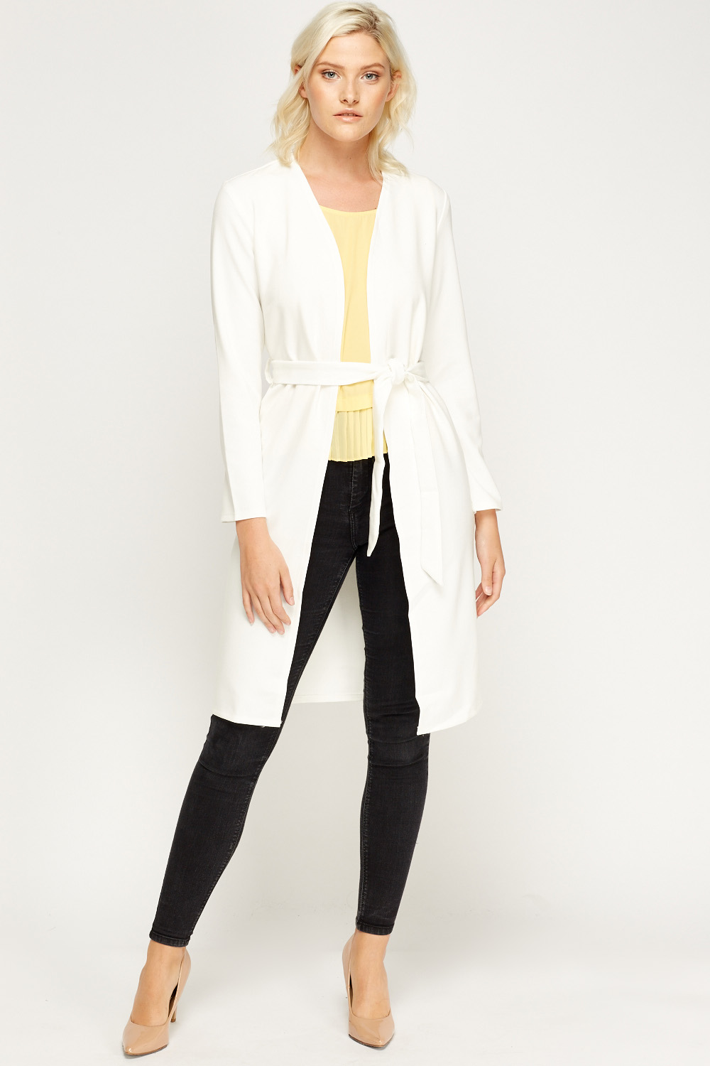 Off White Long Tie Up Jacket Just 163 5