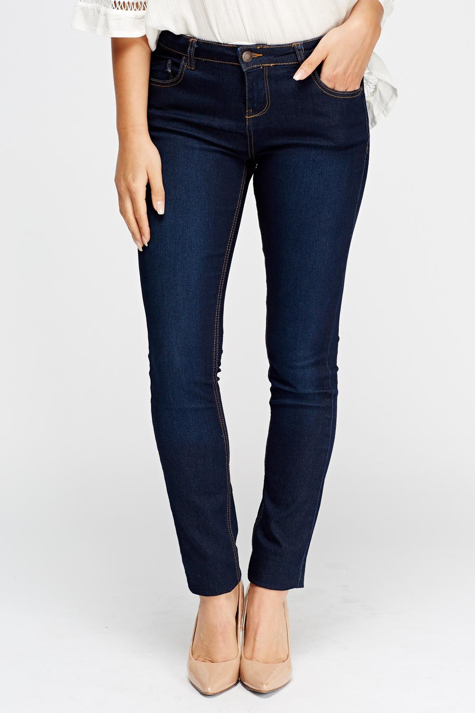 regular slim fit jeans denim blue just 5. Black Bedroom Furniture Sets. Home Design Ideas