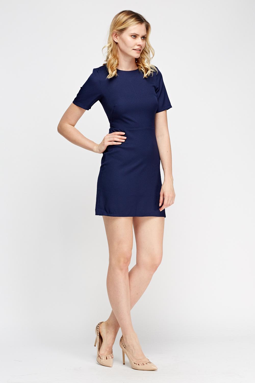Short Sleeves Shift Dress Just 163 5