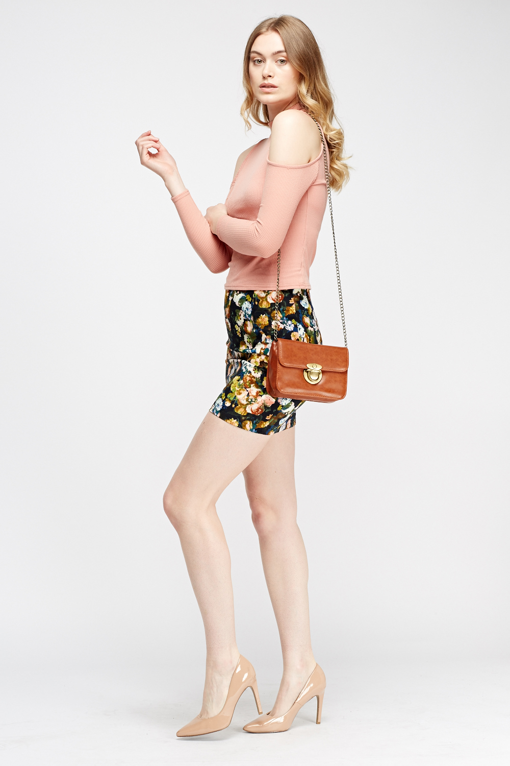 from Riley floral print mini skirt