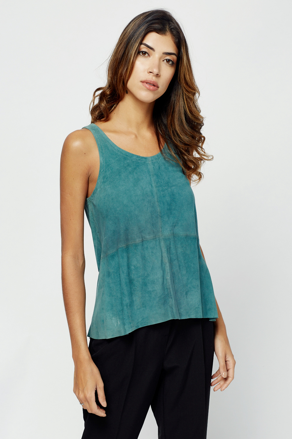 08aeaf5043f Muubaa Suede Sleeveless Top - Limited edition | Discount Designer Stock