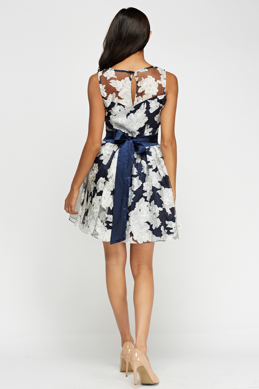 a25e87c6d2 Zibi London Organza Floral Dress With Satin Sash - Limited edition ...