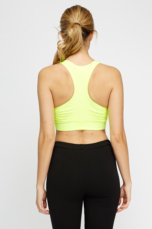 63458fbbe36 Neon Yellow Sport Bra - Just £5