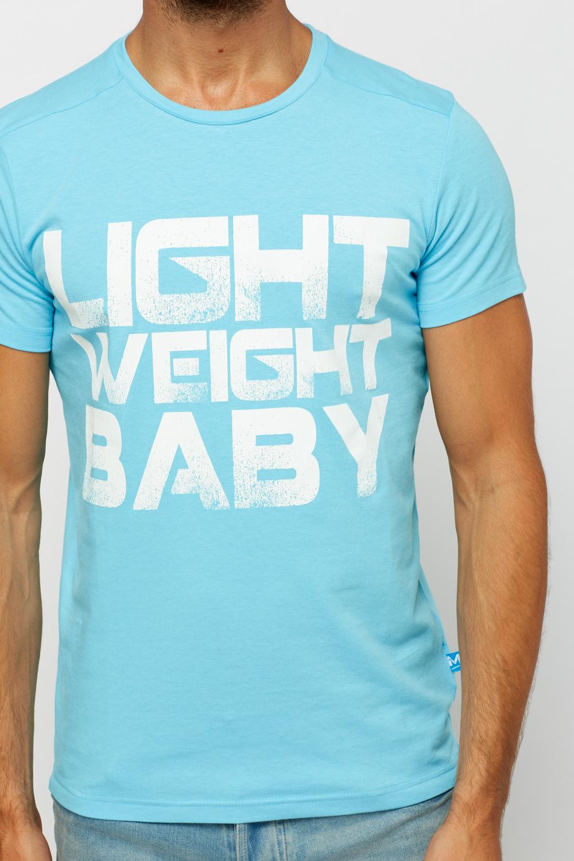 Logo Print Neon Blue T-Shirt - Just £5