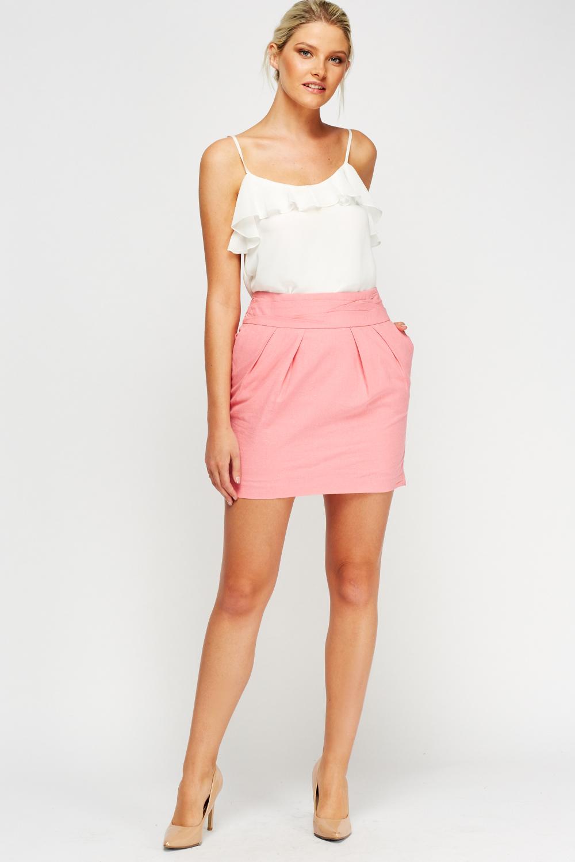 Pink Mini Skirt Just 163 5