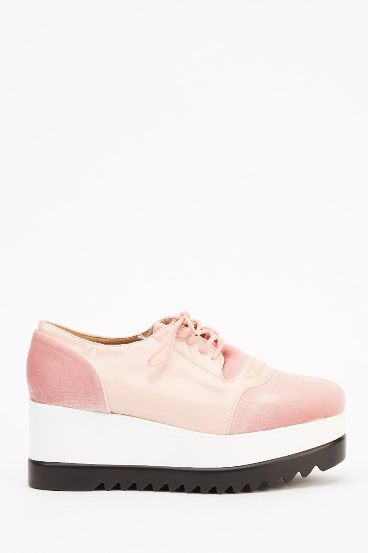 fbce5c9b89cc Contrast Platform Lace Up Shoes - Just £5