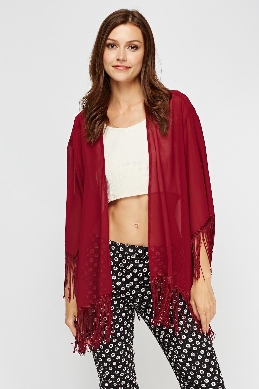 Tassel Sheer Kimono - Just £5