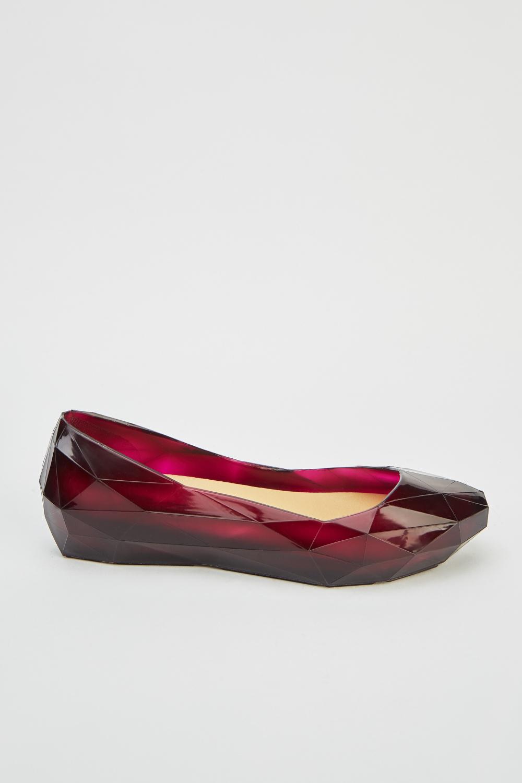 1b2095f8cd84 Jelly Transparent Flats - Black - Just £5