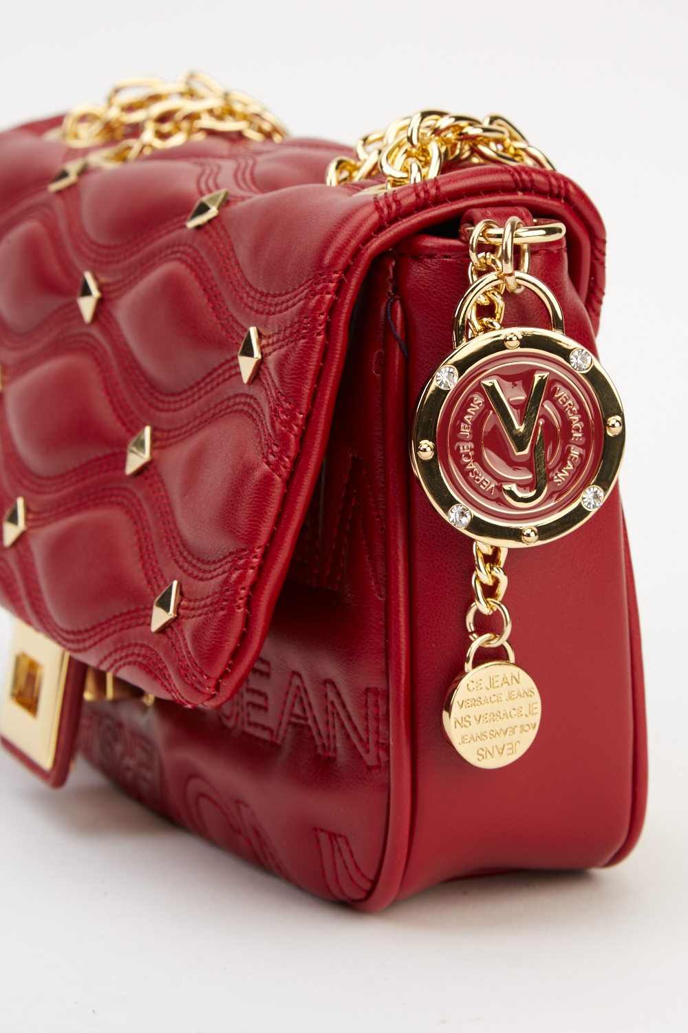 93307d2cb989 Versace Jeans Burgundy Small Bag - Limited edition