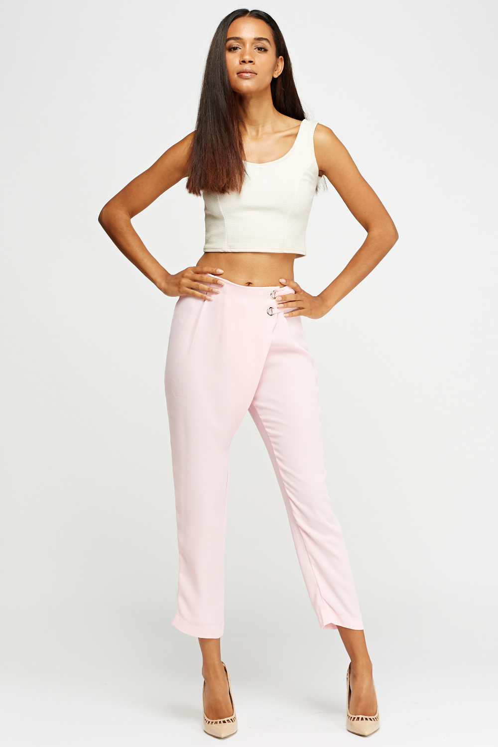 13599b3d7178c Wrap Front Cropped Trousers - Just £5