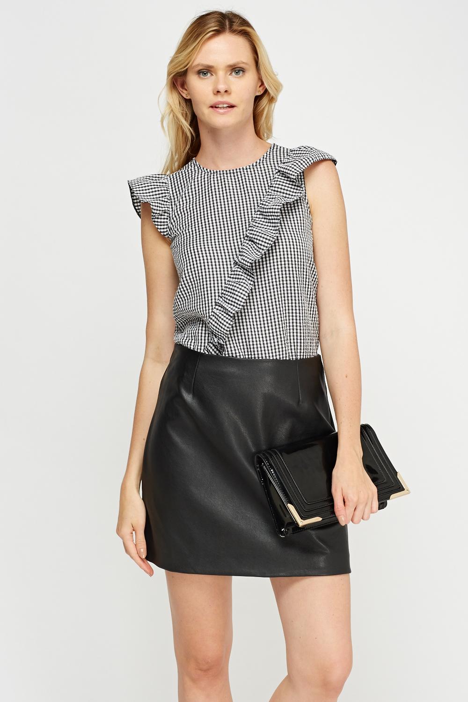 Leather Mini Skirt Black - Dress Ala