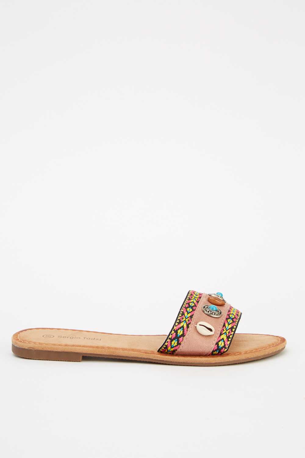 973071bf0 Embroidered Flat Sandals - 6 Colours - Just £5