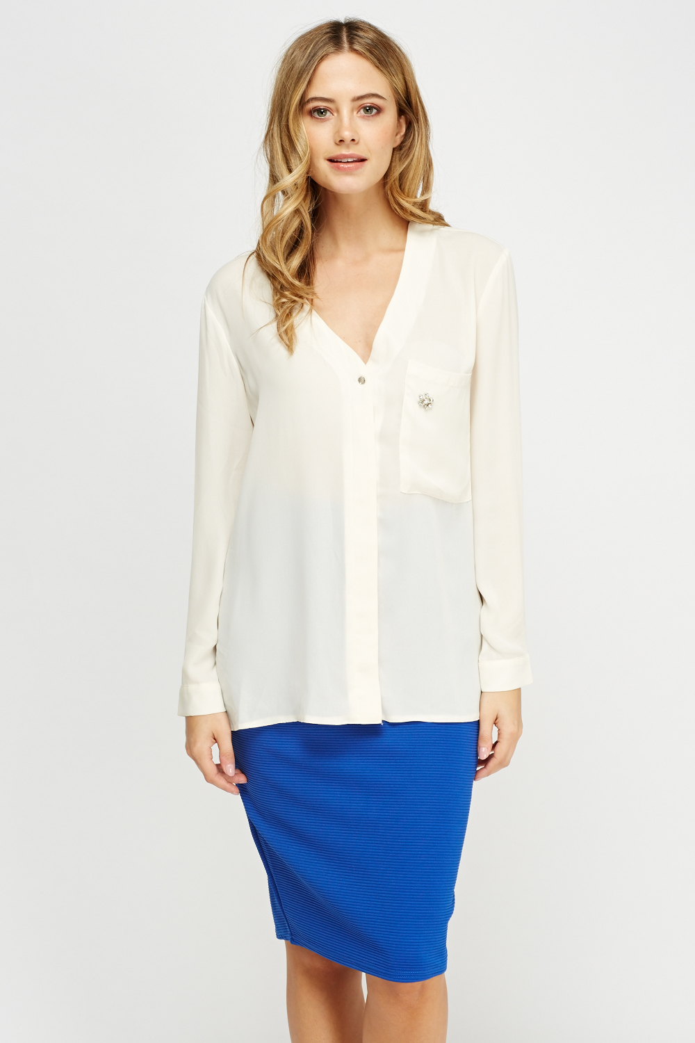 3ac5746b47 Sheer Button Up Blouse - Just £5