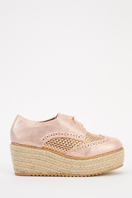744e633cde4 Espadrille Contrast Platform Shoes - Just £5