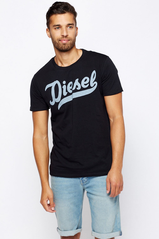814da620 Diesel Logo Printed Front T-Shirt - Limited edition | Discount Designer  Stock