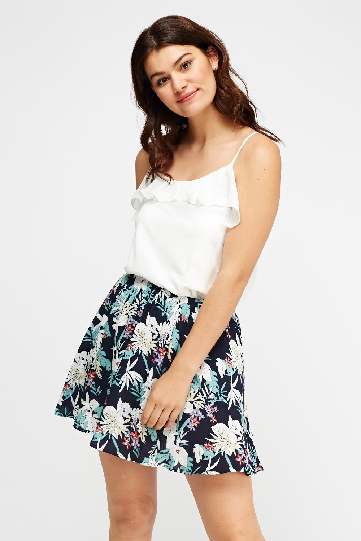 73587ea6b3 Floral Mini Swing Skirt - Just £5