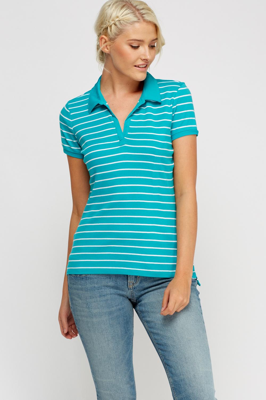 Stripe Polo T-Shirt - Just £5