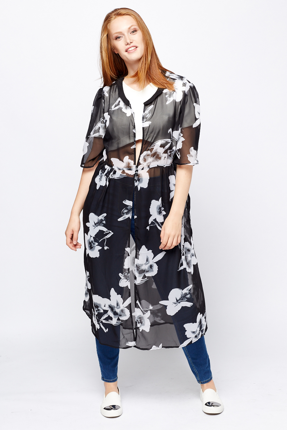 acf4460d5a Floral Print Sheer Cover Up - Just £5