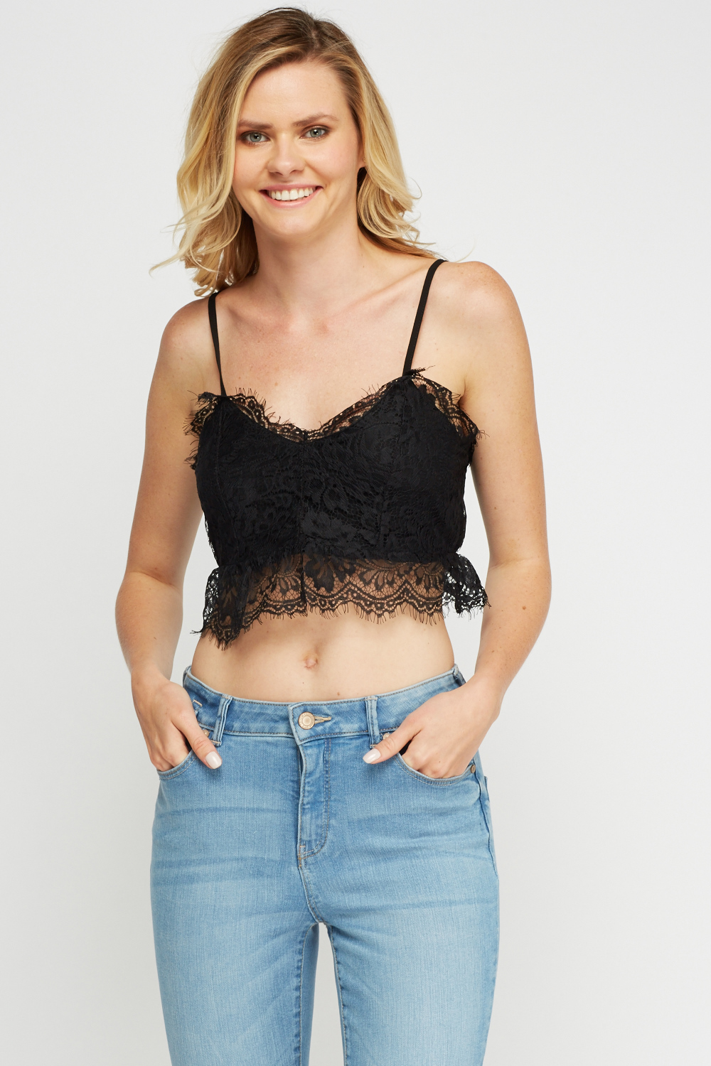 7ef20b65ae15c Lace Overlay Bralette - Just £5