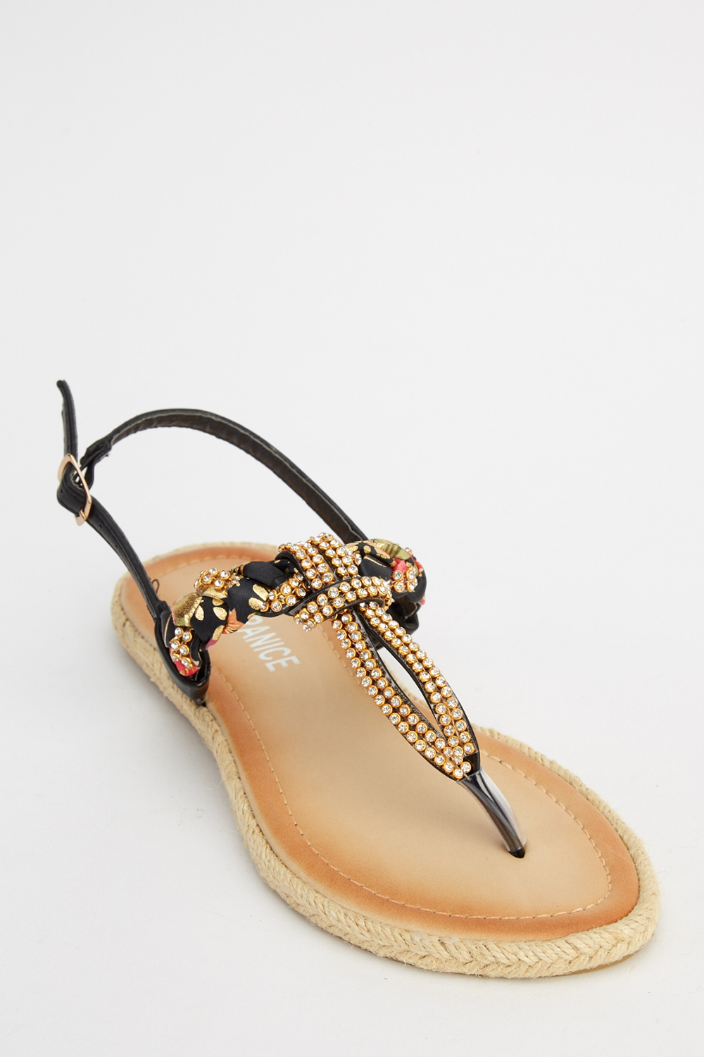 2de250713 Embellished Flip Flop Sandals - Just £5