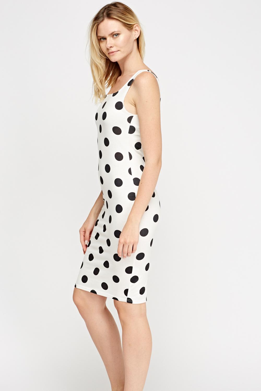 Polka Dot Bodycon Dress Just 163 5