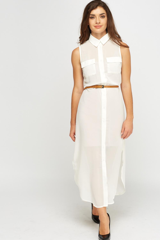 436083dfd03ba Sheer Longline Shirt Dress - Just £5