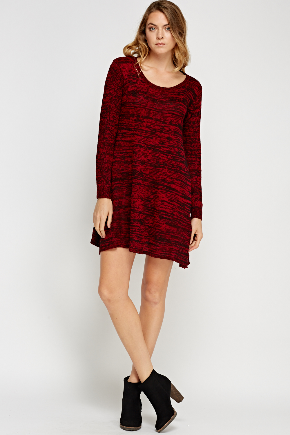 66cbfdf2aee6 Speckled Knitted Swing Jumper Dress - Just £5
