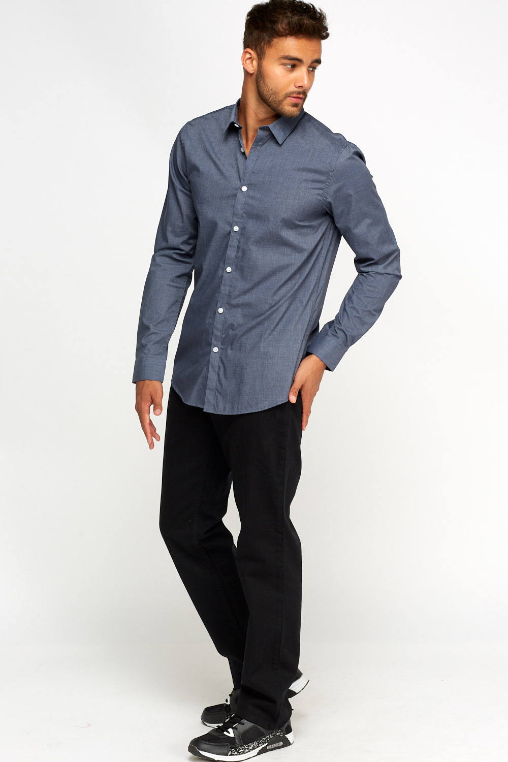 Middle Blue Casual Shirt