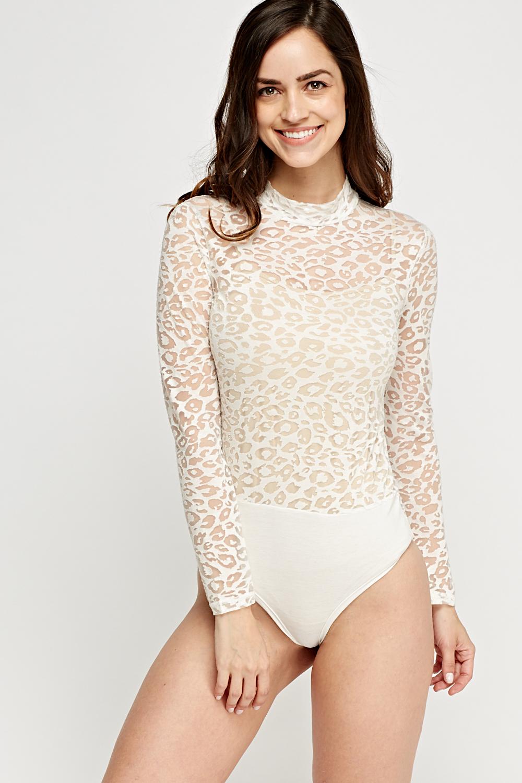 63f658a7d7 Long Sleeve Mesh Bodysuit - Just £5
