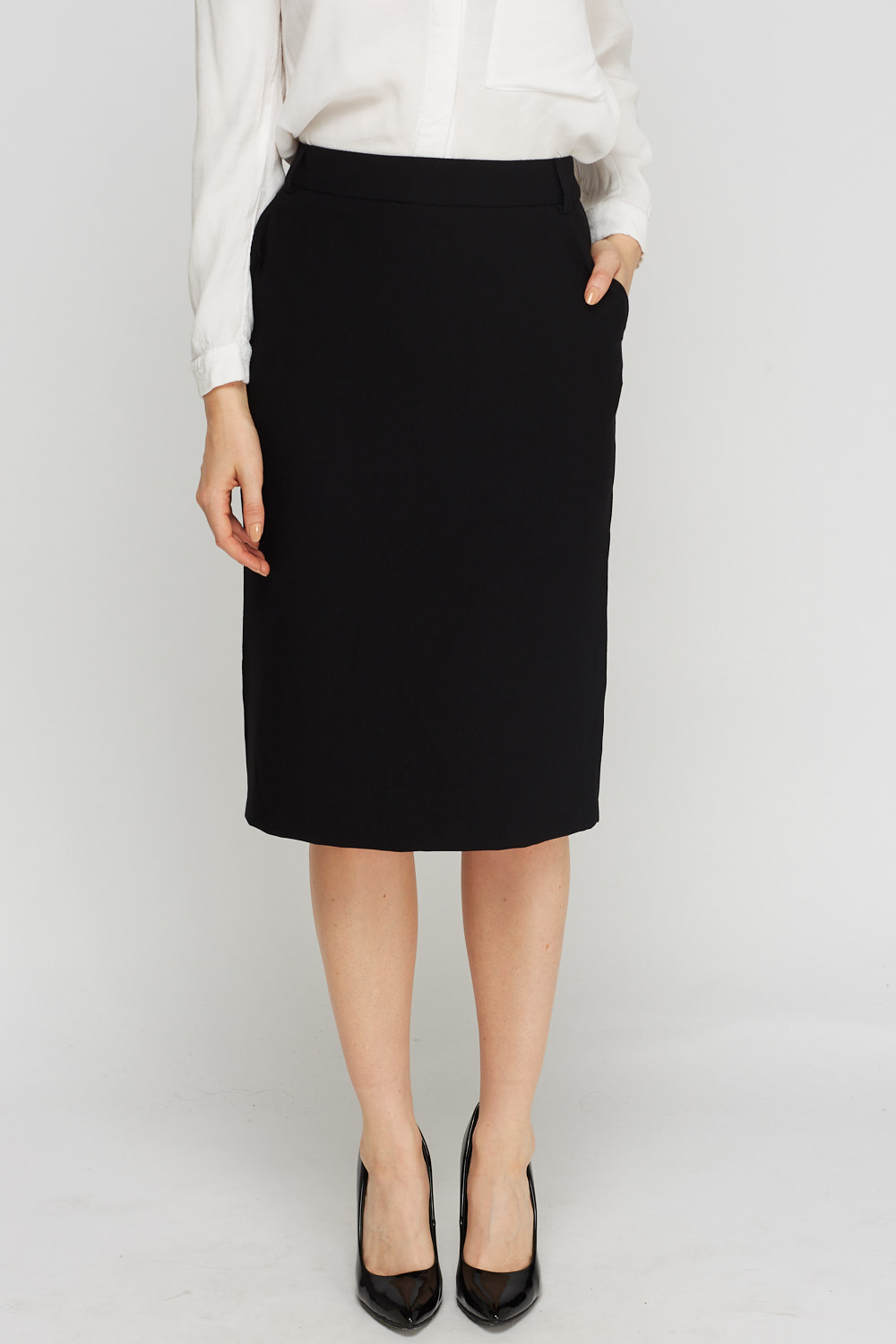 Black Formal Midi Skirt Just 163 5