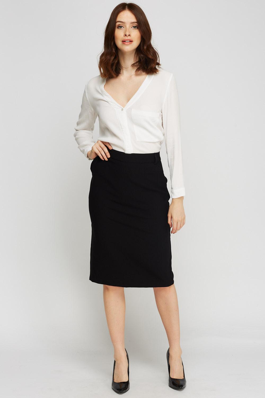 black formal midi skirt just 163 5