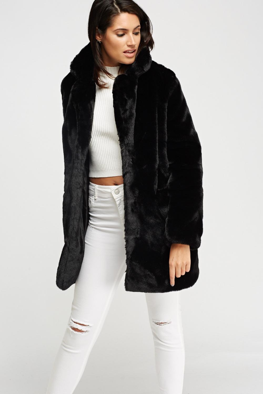 ae5949e3fe84 K.ZELL Black Teddy Bear Faux Fur Coat - Limited edition   Discount ...