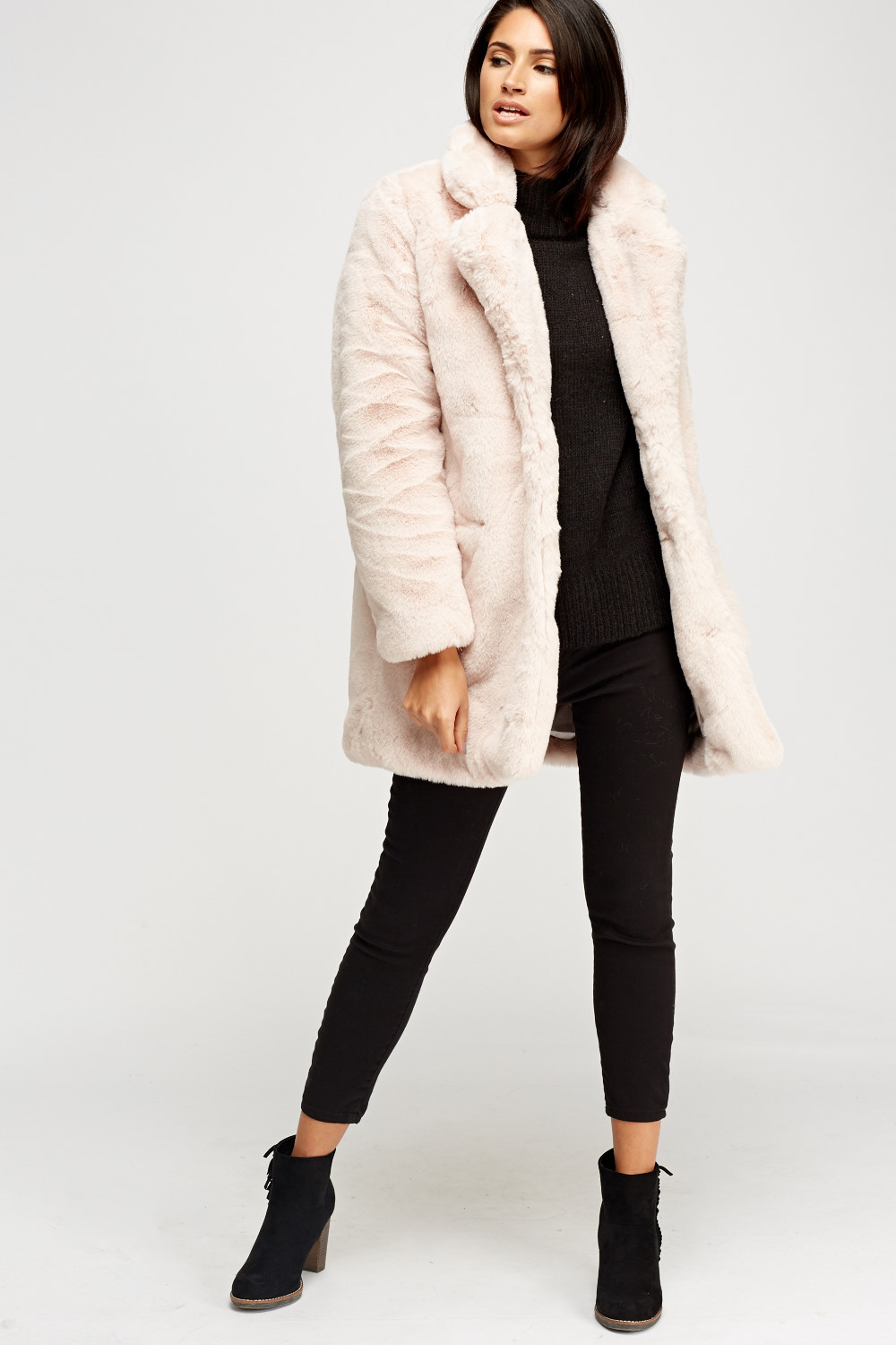 most popular unique design 50% price K Zell Light Pink Teddy Bear Faux Fur Coat - Limited edition ...