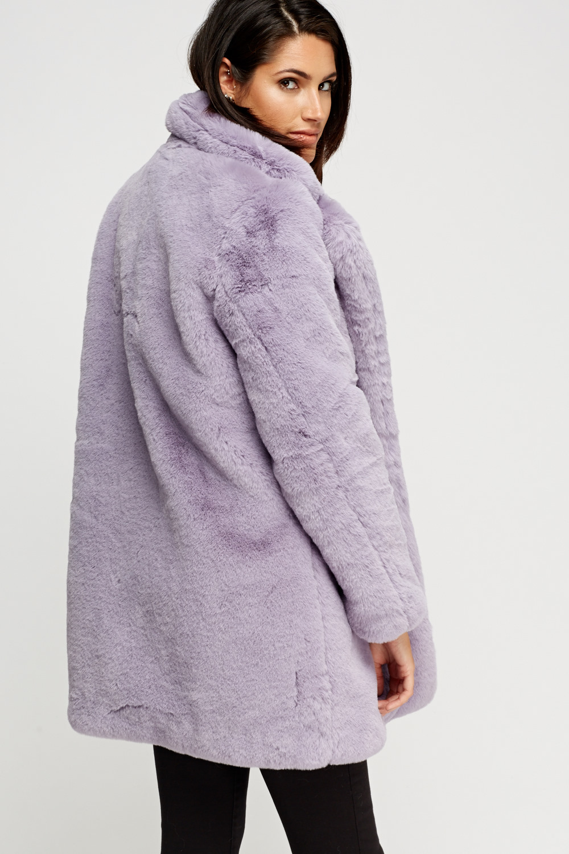 43b8ab7071e K.Zell Lilac Teddy Bear Faux Fur Coat - Limited edition