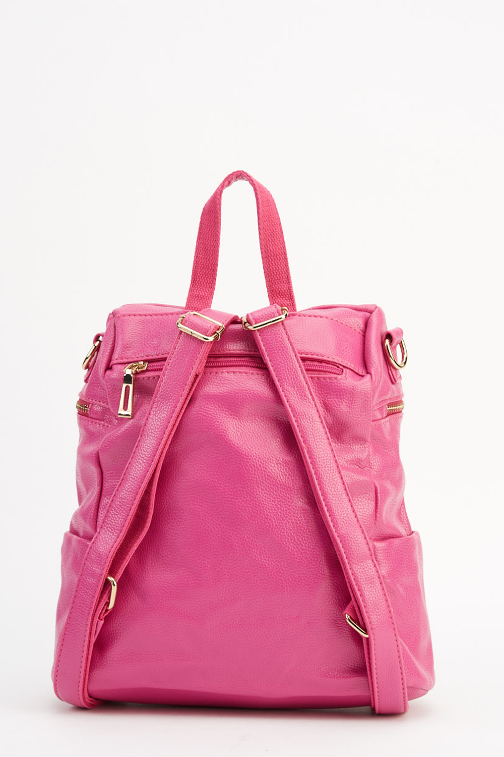 bbbdd8f335 Multi Zip Pocket Faux Leather Backpack. Click on the image to zoom