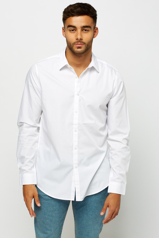 Grid mesh mini dress white shirts