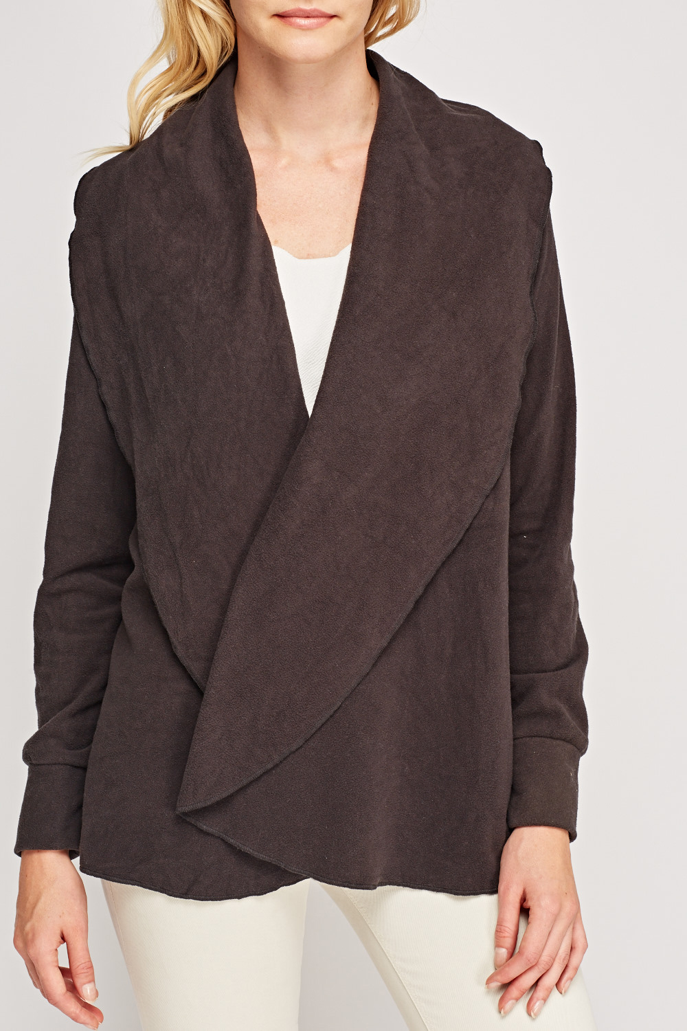 Fleece Waterfall Cardigan - Just £5