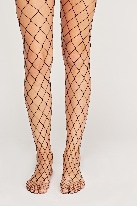 5b1737e655e Large Fishnet Pantyhose Tights - Black - Just £5