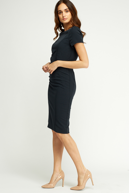short sleeve midi dress formal